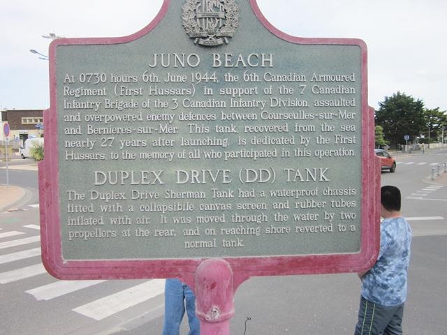 0730 Juno Beach Tank Sign