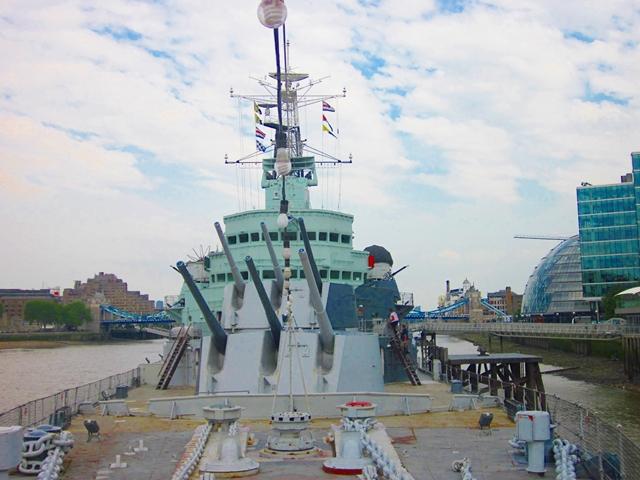 5010 Thames HMS Belfast Guns