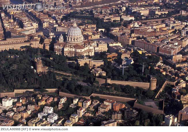 Italy, Rome,the Vatican aerial view of city