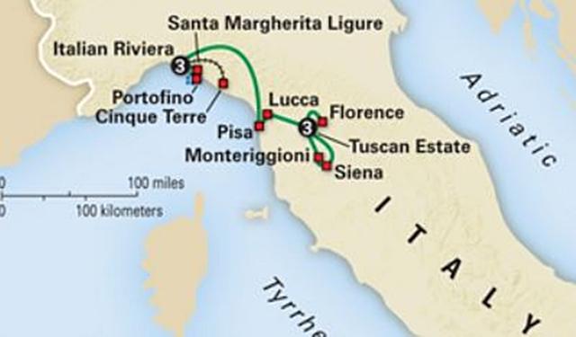 1304 Italian Riviera Map