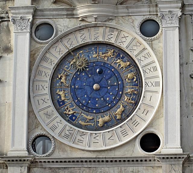4410 Venice Zodiac Clock